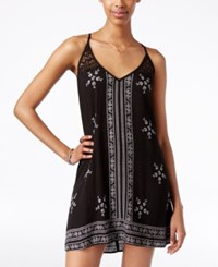 American Rag Sleeveless Embroidered Slip Dress Only At Macy's Black