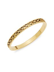 Diane Von Furstenberg Metal Chain Links Bangle Bracelet Gold