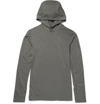 Reigning Champ Thermal Jersey Hooded Sweatshirt Charcoal