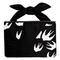Mcq By Alexander Mcqueen Black Swallows Knotted Tablet Pouch