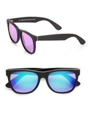 Super By Retrosuperfuture Oversized Plastic Wayfarer Sunglasses Black