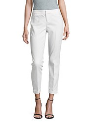 Saks Fifth Avenue Cropped Solid Pants Navy