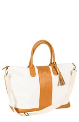 Cathy's Concepts Monogram Faux Leather Tote Brown