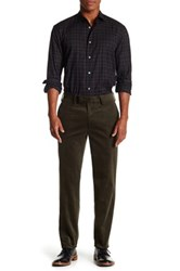 Louis Raphael Wale Cord Slim Fit Flat Front Trouser Green