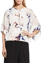 Women's Vince Camuto Faux Wrap Floral Print Blouse New Ivory