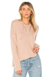 Endless Rose Lace Up Sweater Taupe