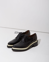 Acne Studios Lark Derby Black And Pastel Yellow