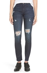 Junior Women's On Twelfth 'Taylor' Slim Girlfriend Jeans Columbia Dark Tint
