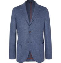 Loro Piana Blue Slim Fit Cashmere Blazer Blue