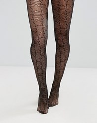 Asos Star Fishnet Tights Black