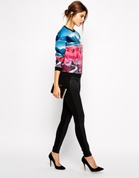 Ted Baker Leggings With Snake Effect Panels Black