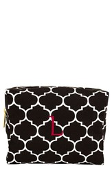 Cathy's Concepts Monogram Cosmetics Case Black L