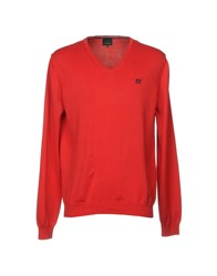 Henry Cotton's Sweaters Red