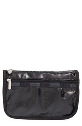 Le Sport Sac Lesportsac Travel Cosmetic Case Black Crinkle Patent