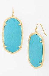 Women's Kendra Scott 'Danielle Large' Oval Statement Earrings Turquoise