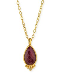 Gurhan Elements 24K Constantine Ruby Pendant Necklace