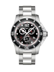 Longines Analog Stainless Steel Chronograph Bracelet Watch No Color