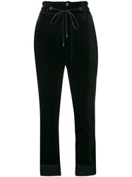 Di Liborio Cropped Trousers Black