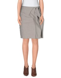 Diane Von Furstenberg Skirts Knee Length Skirts Women Light Grey