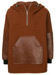 Cerruti 1881 Panelled Hooded Jacket Brown