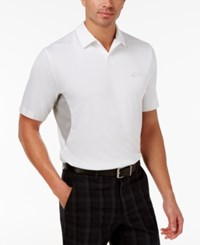 Greg Norman For Tasso Elba Men's Rapichill Performance Sun Protection Polo Only At Macy's Bright White