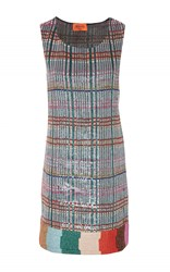 Missoni Sleeveless Sequin Tunic Plaid