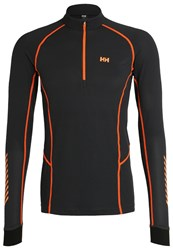 Helly Hansen Dry Charger Sports Shirt Ebony Black