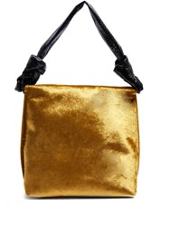 The Row Wander Small Velvet And Python Shoulder Bag Gold