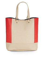 Urban Originals Try 2 Tone Two In One Tote Beige Coral