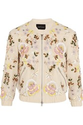 Needle And Thread Embellished Georgette Bomber Jacket