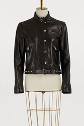 Red Valentino Studded Leather Perfecto Nero
