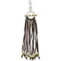 J.W.Anderson Jw Anderson Silver And Brown Fringe Disc Keychain