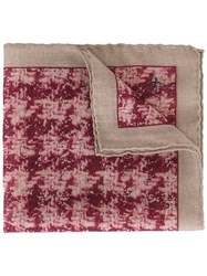 Canali Printed Pocket Handkerchief Nude And Neutrals