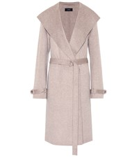 Joseph Wool And Cashmere Coat Beige