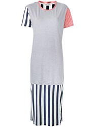 Each X Other Striped T Shirt Dress White