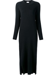 Christophe Lemaire Lateral Slit Longsleeved Dress Black