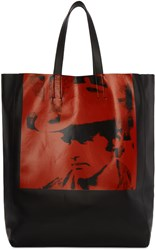 Calvin Klein 205W39nyc Black And Red Dennis Hopper Tote