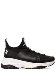 Dsquared Icon Bumpee Mixed Tech Low Top Sneakers Black