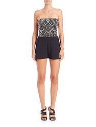Parker Granite Beaded Short Jumpsuit Black