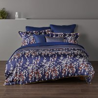 Christy Morello Blossom Duvet Set Midnight Blue