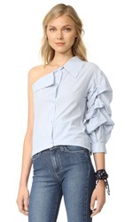 One By Stylekeepers Shoulder Shirt Blue