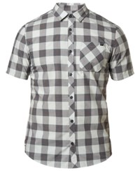 Fox Ash Plaid Button Up Shirt Grey
