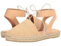 Andre Assous Vixen Natural Woven Pu Women's Sandals Beige