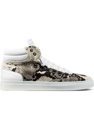 Ylati Snake Prink Pony Hair Opus High Top Sneakers