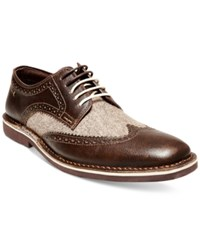 Steve Madden Men's Lookus Wingtip Oxfords Men's Shoes Brown Multi