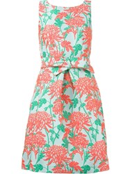 P.A.R.O.S.H. Floral Jacquard Dress Pink And Purple