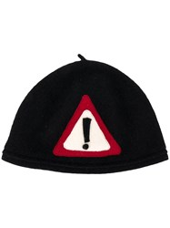 Le Chapeau Warning Sign Hat Black