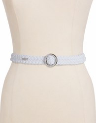 Lauren Ralph Lauren Braided Stretch Belt White