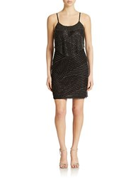 J Kara Petite Patterned Sheath Dress Black Mercury
