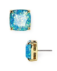 Kate Spade New York Small Square Glitter Stud Earrings Pale Blue